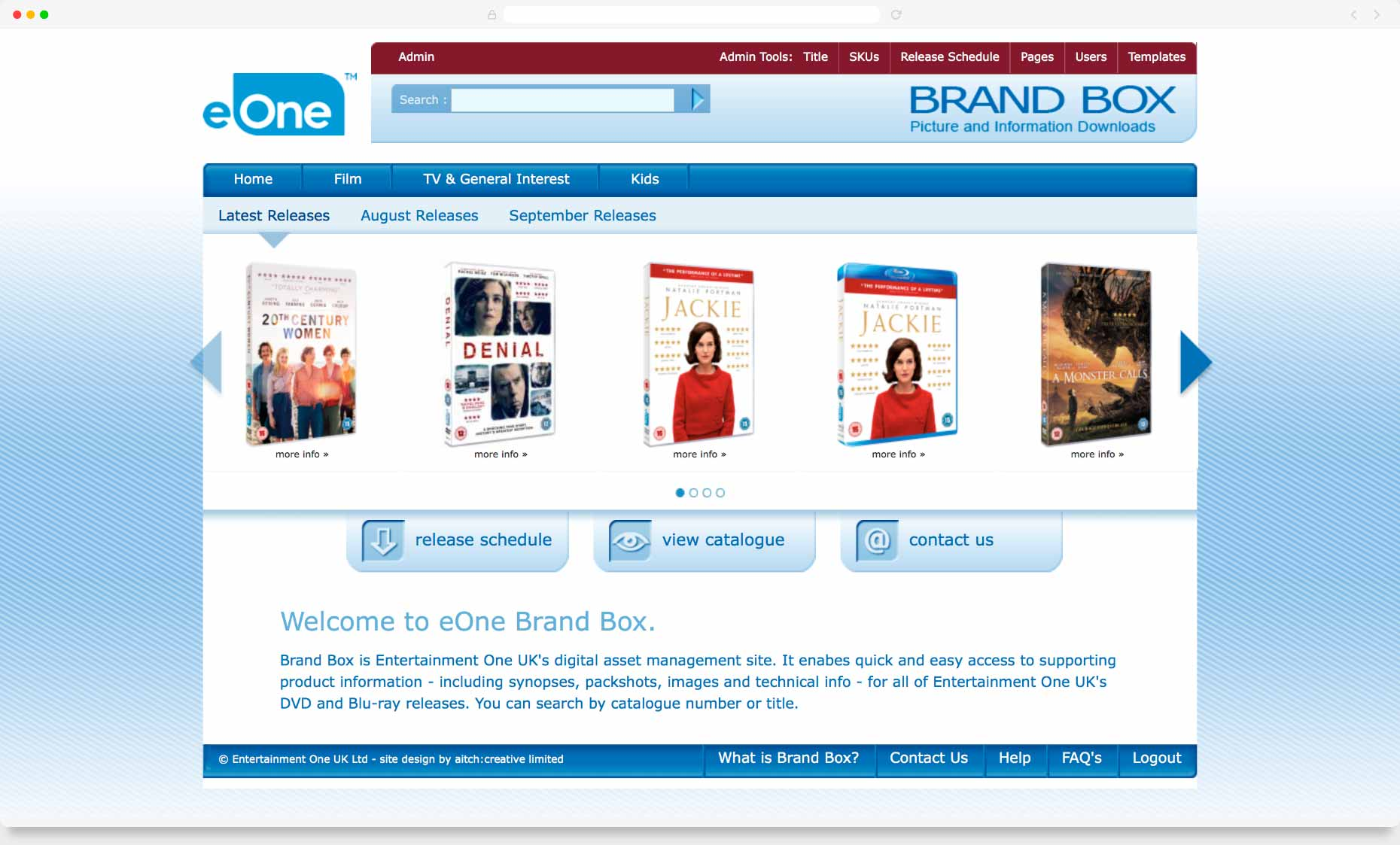 Eone Digital Asset Management System Web Design Hitchin Website Designers Hertfordshire Double Underscore