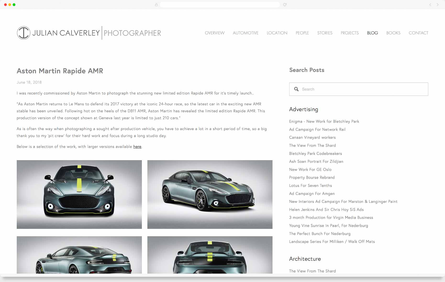 Website Design & Development - Julian Calverley, Hertfordshire